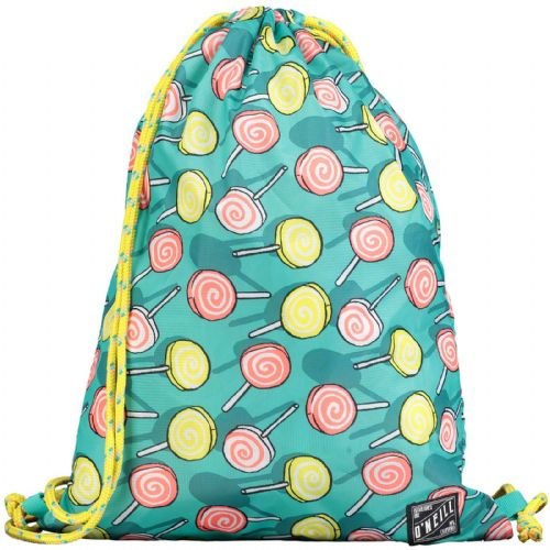 O'NEILL WOMENS/GIRLS GYM BAG.GREEN LOLLIPOP DRAWSTRING SHOULDER SACK 7W 038 6920